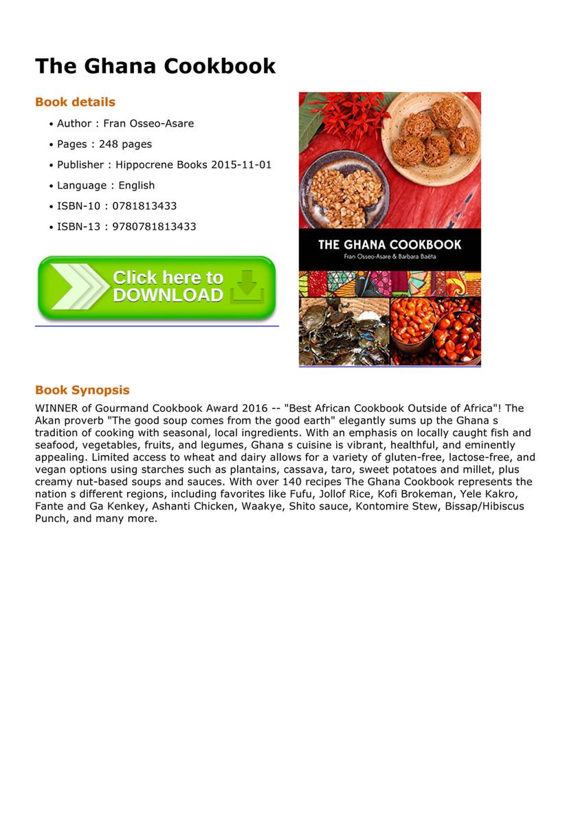 Amato - The Ghana Cookbook - Page 1 ...