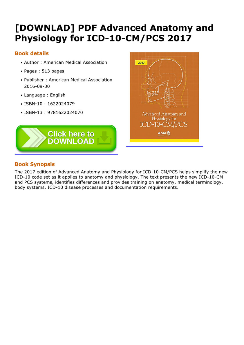 Elizalde - DOWNLAD PDF Advanced Anatomy and Physiology for ICD 10 CM ...