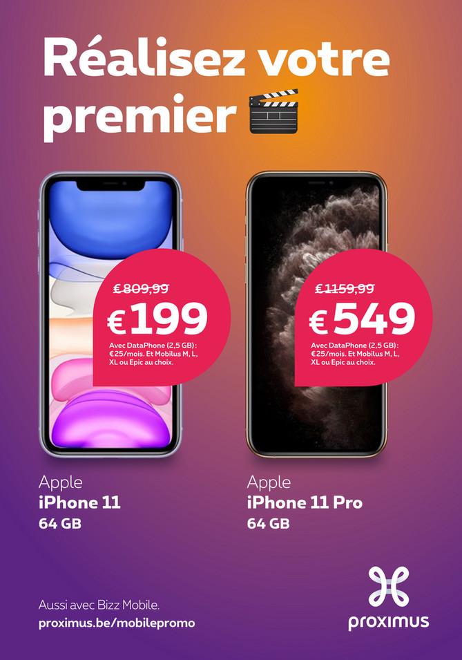 Folder Proximus du 01/10/2019 au 11/11/2019 - Promotions du mois octobre