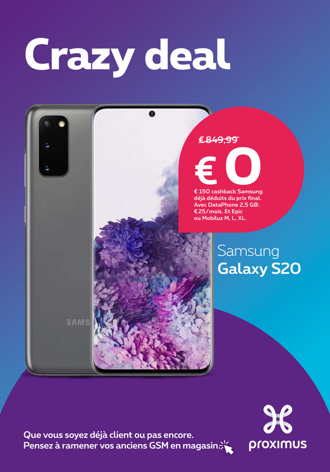 Folder Proximus du 18/05/2020 au 01/06/2020 - promotions de la semaine 21