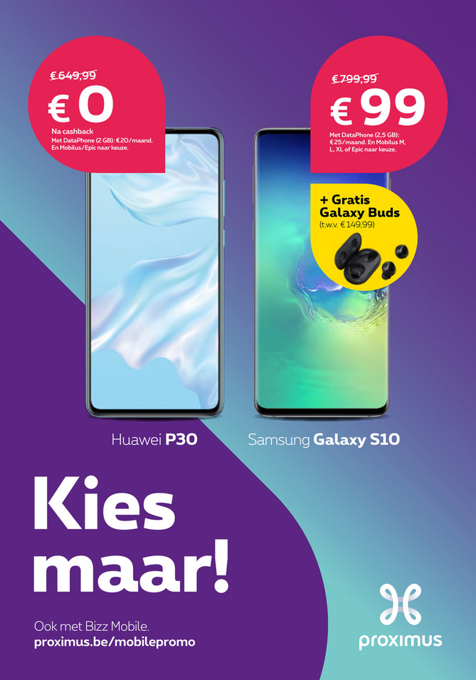Proximus folder van 06/12/2019 tot 31/12/2019 - Maandpromoties december