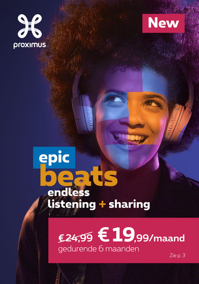 Proximus folder van 13/08/2018 tot 30/09/2018 - Maandpromoties