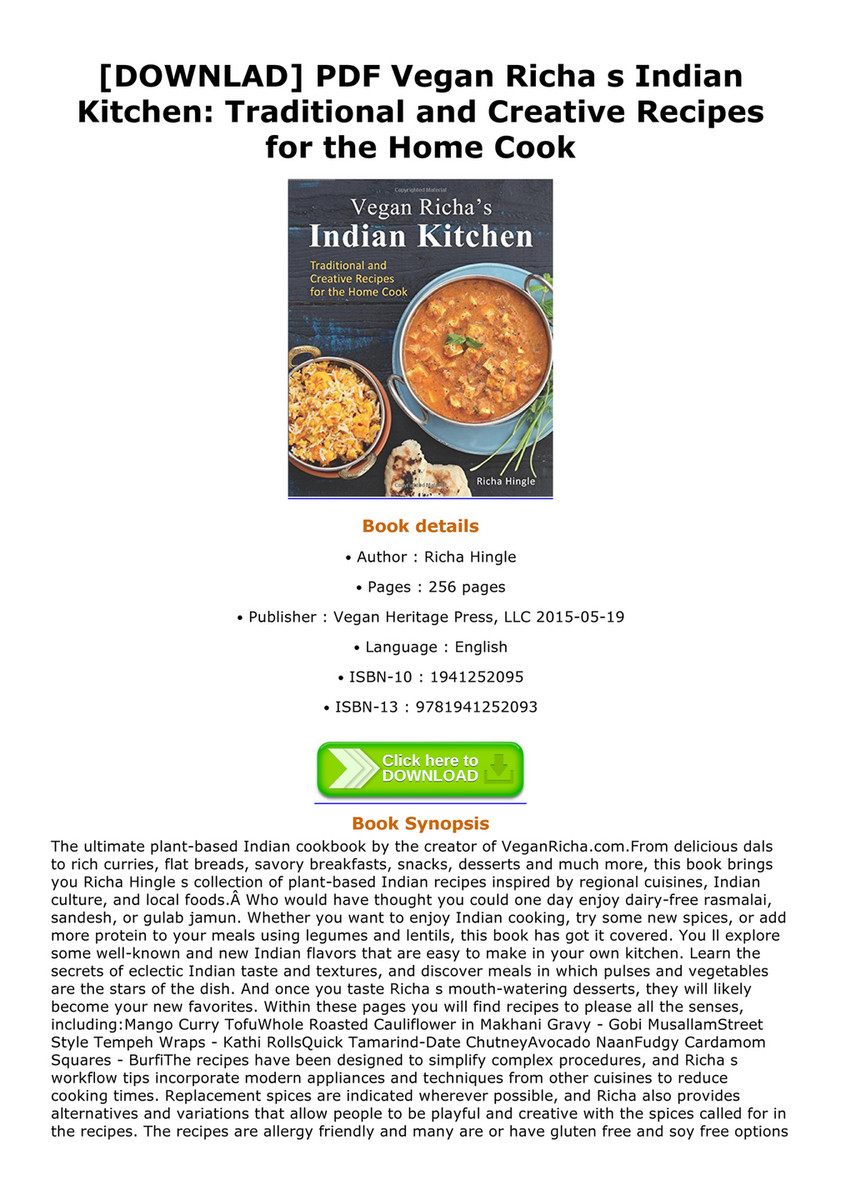 Leopoldo downlad pdf vegan richa s indian kitchen traditional and downlad pdf vegan richa s indian kitchen traditional and creative recipes for the forumfinder Choice Image