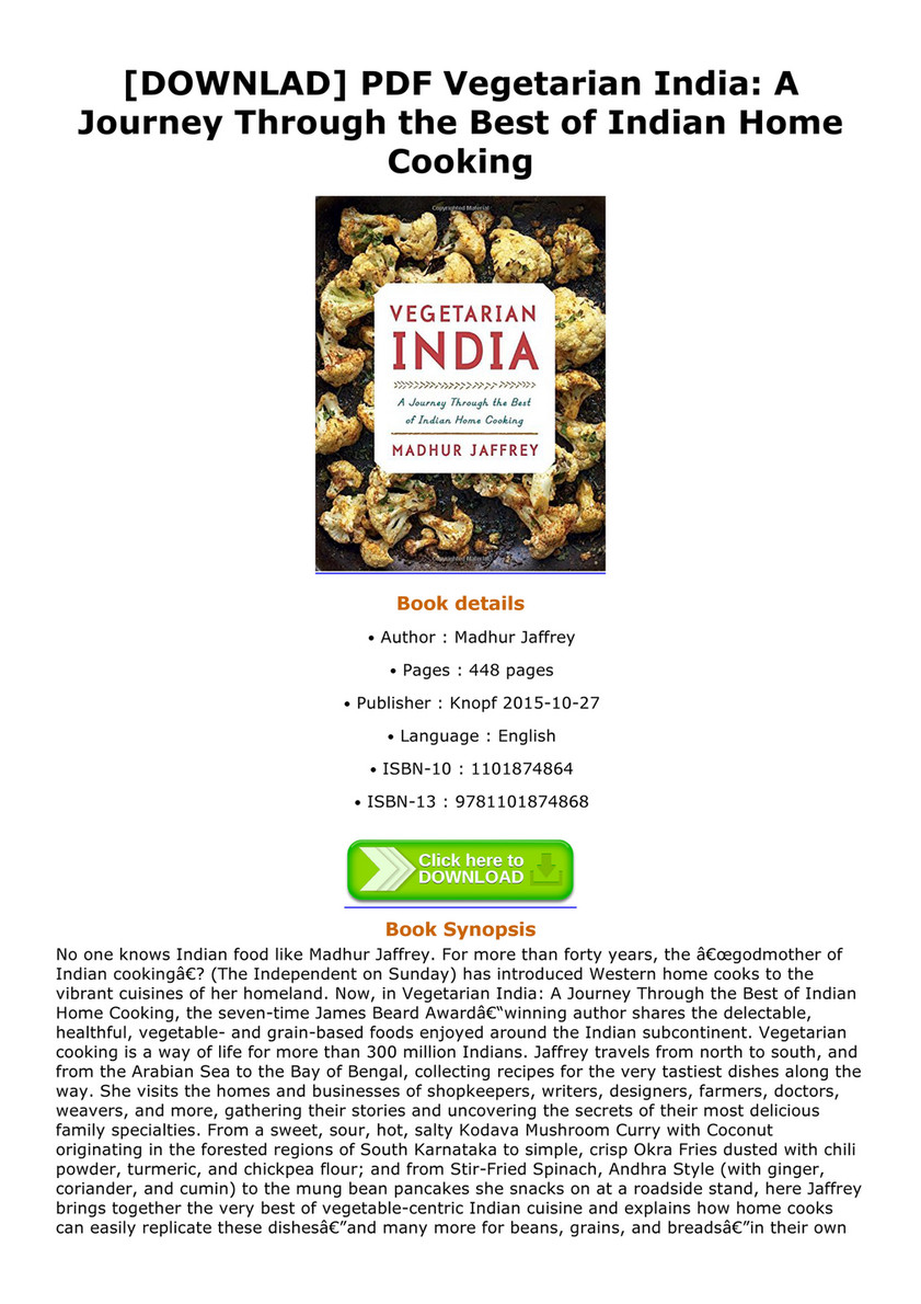 Jeremy downlad pdf vegetarian india a journey through the best of downlad pdf vegetarian india a journey through the best of indian home cooking forumfinder Images