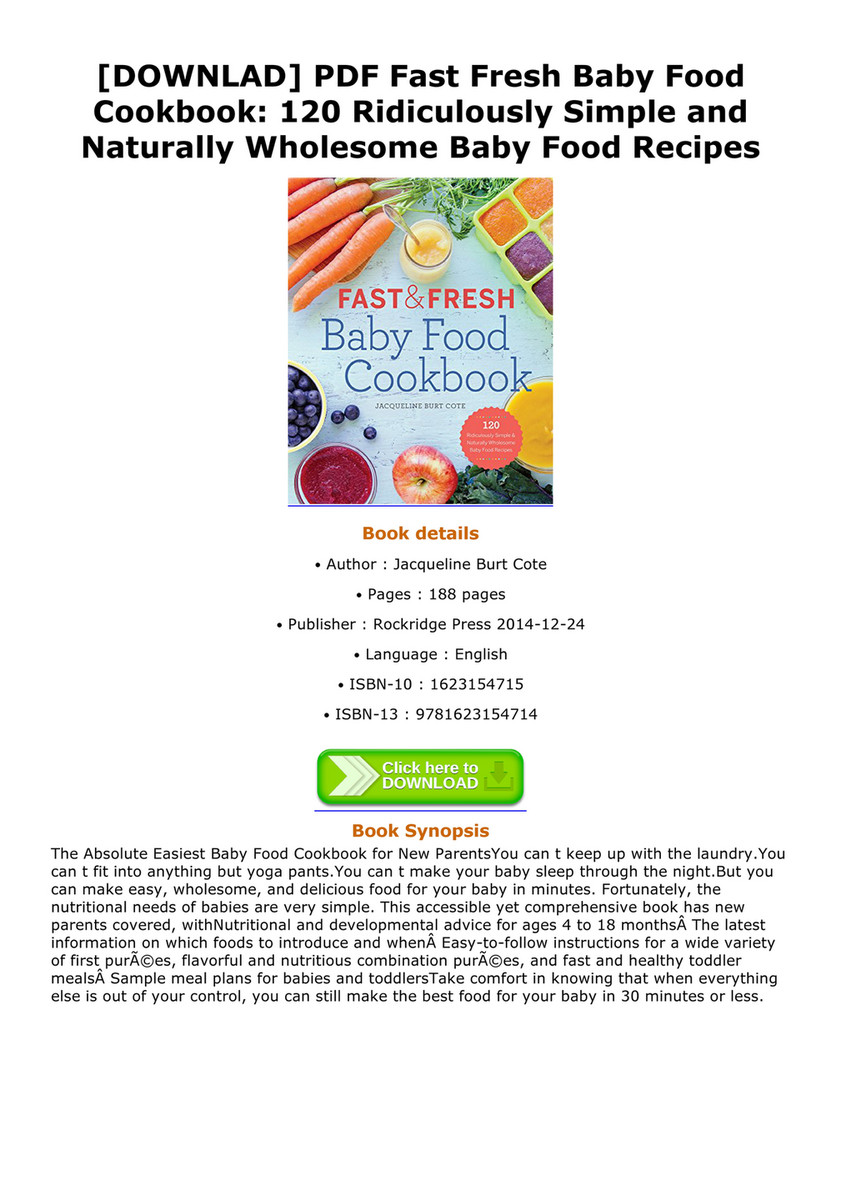 Ebook downlad pdf fast fresh baby food cookbook 120 ridiculously downlad pdf fast fresh baby food cookbook 120 ridiculously simple and naturally wholesome forumfinder