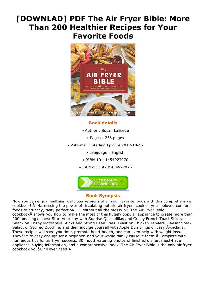 Bryan - DOWNLAD PDF The Air Fryer Bible More Than 200 Healthier