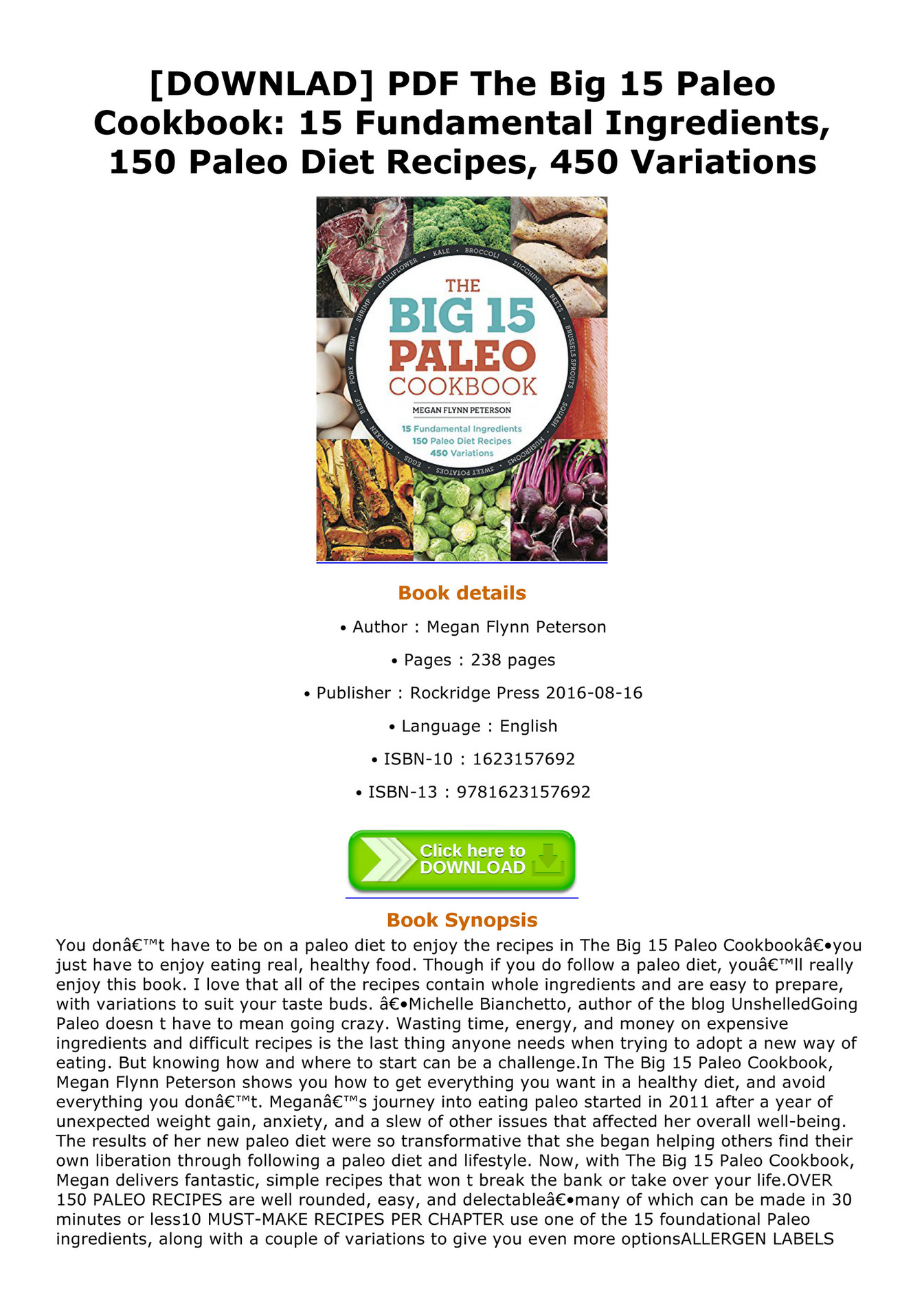 Paleo Diet For Ms