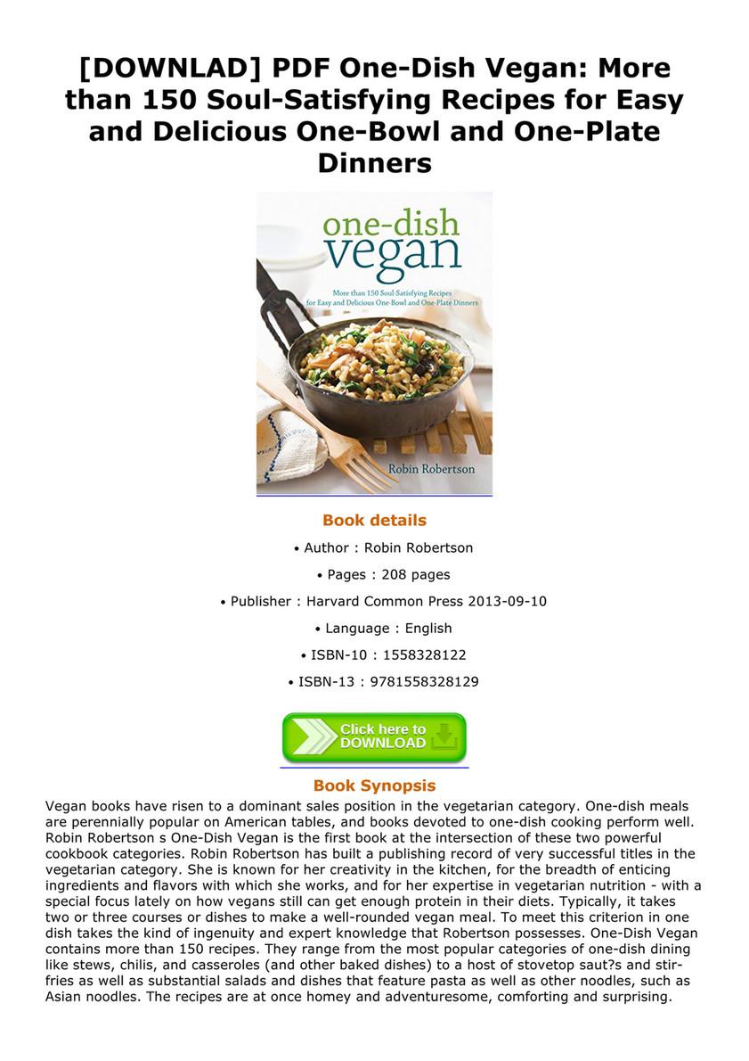 Ebook downlad pdf one dish vegan more than 150 soul satisfying downlad pdf one dish vegan more than 150 soul satisfying recipes forumfinder Gallery