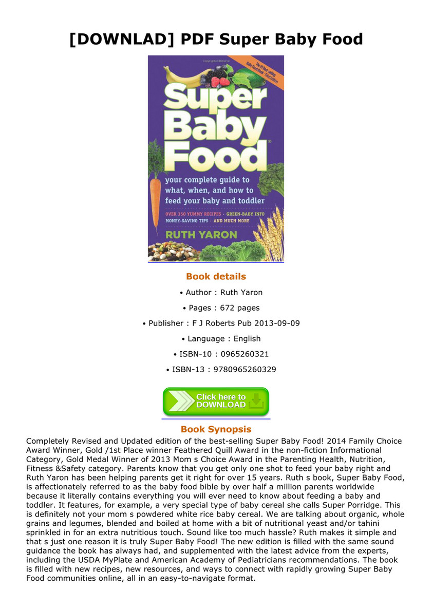 Lux downlad pdf super baby food page 1 created with publitas downlad pdf super baby food super baby food completely revised and updated edition of forumfinder Gallery