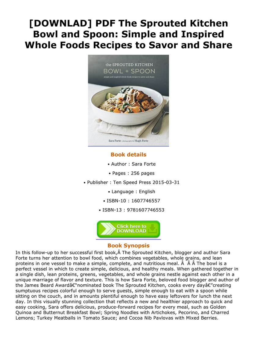 Acevedo downlad pdf the sprouted kitchen bowl and spoon simple and downlad pdf the sprouted kitchen bowl and spoon simple and inspired whole foods forumfinder Image collections