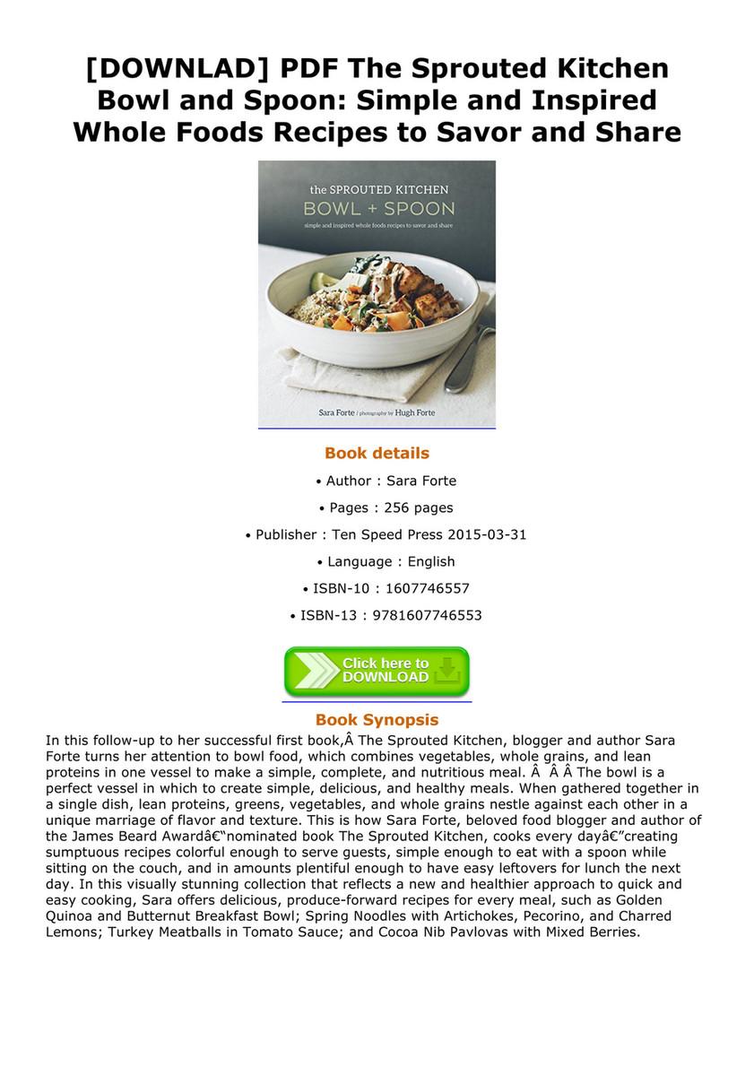 Acevedo downlad pdf the sprouted kitchen bowl and spoon simple and downlad pdf the sprouted kitchen bowl and spoon simple and inspired whole foods forumfinder Images