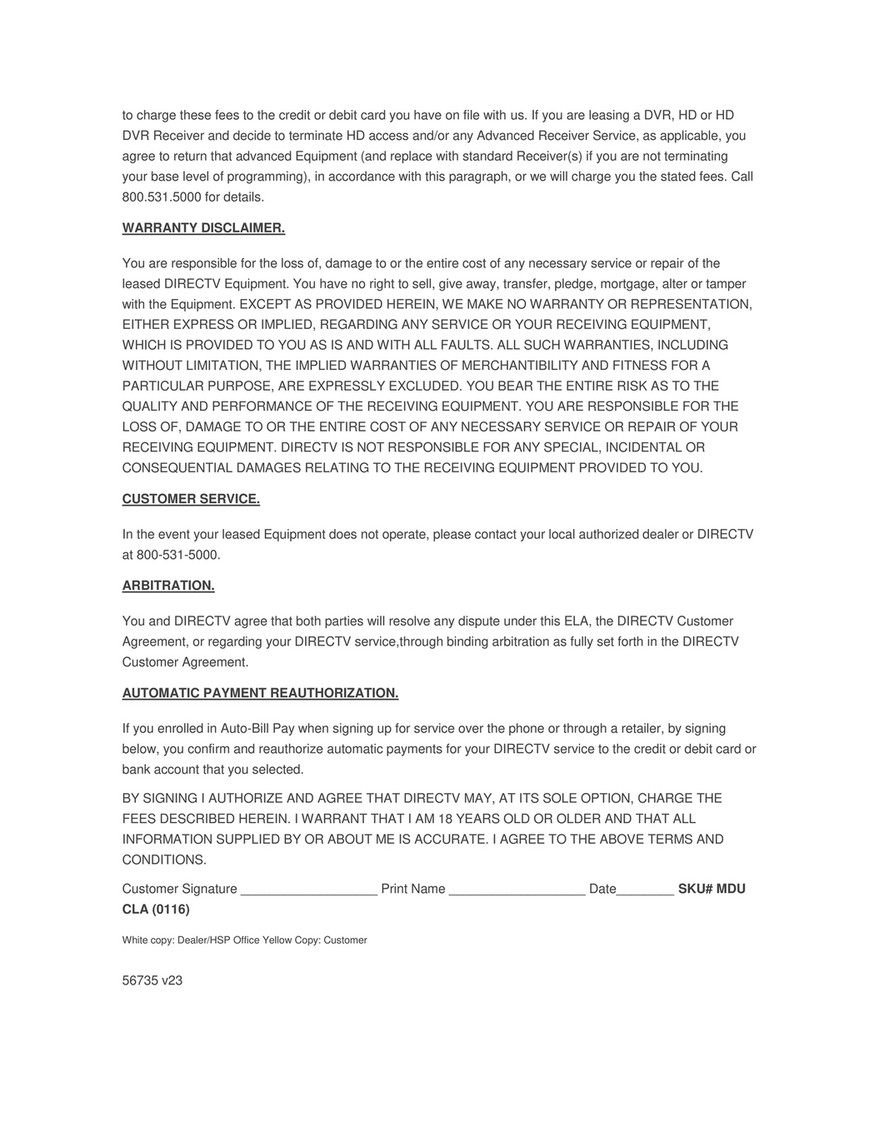 Netkaizen Directv Mdu Equipment Lease Agreement Page 1