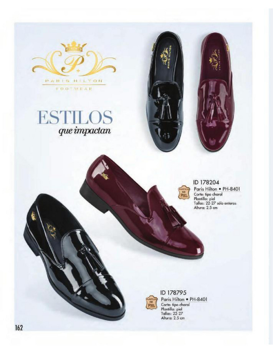 Catalog Price Shoes Vestir Casual 2018 Página 162 163