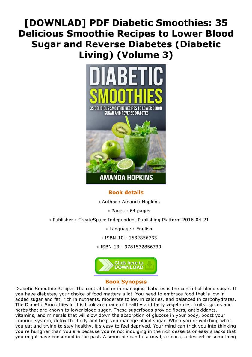 Emanuel Book Downlad Pdf Diabetic Smoothies 35 Delicious