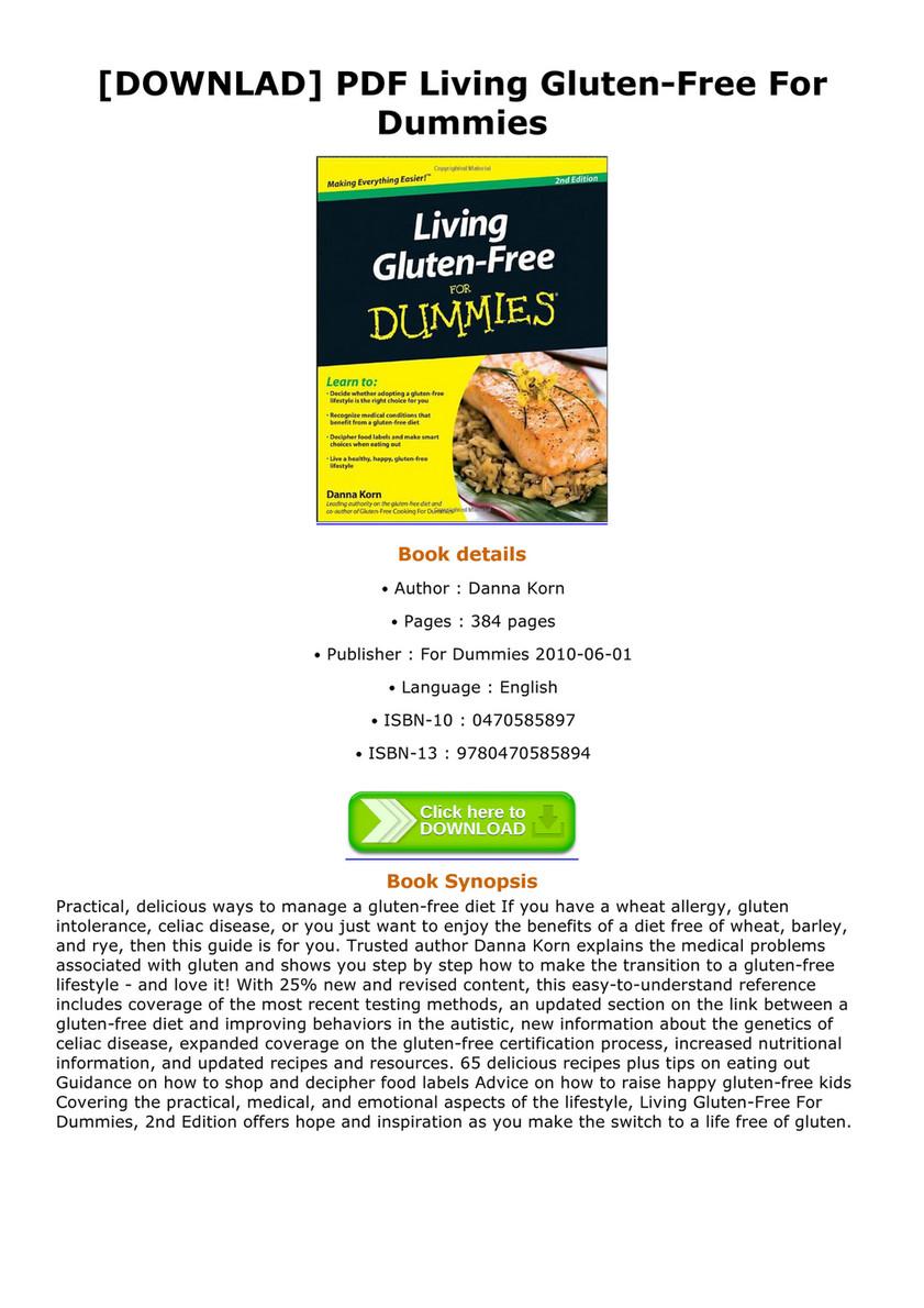 [DOWNLAD] PDF Living Gluten-Free For Dummies Living Gluten-Free For Dummies