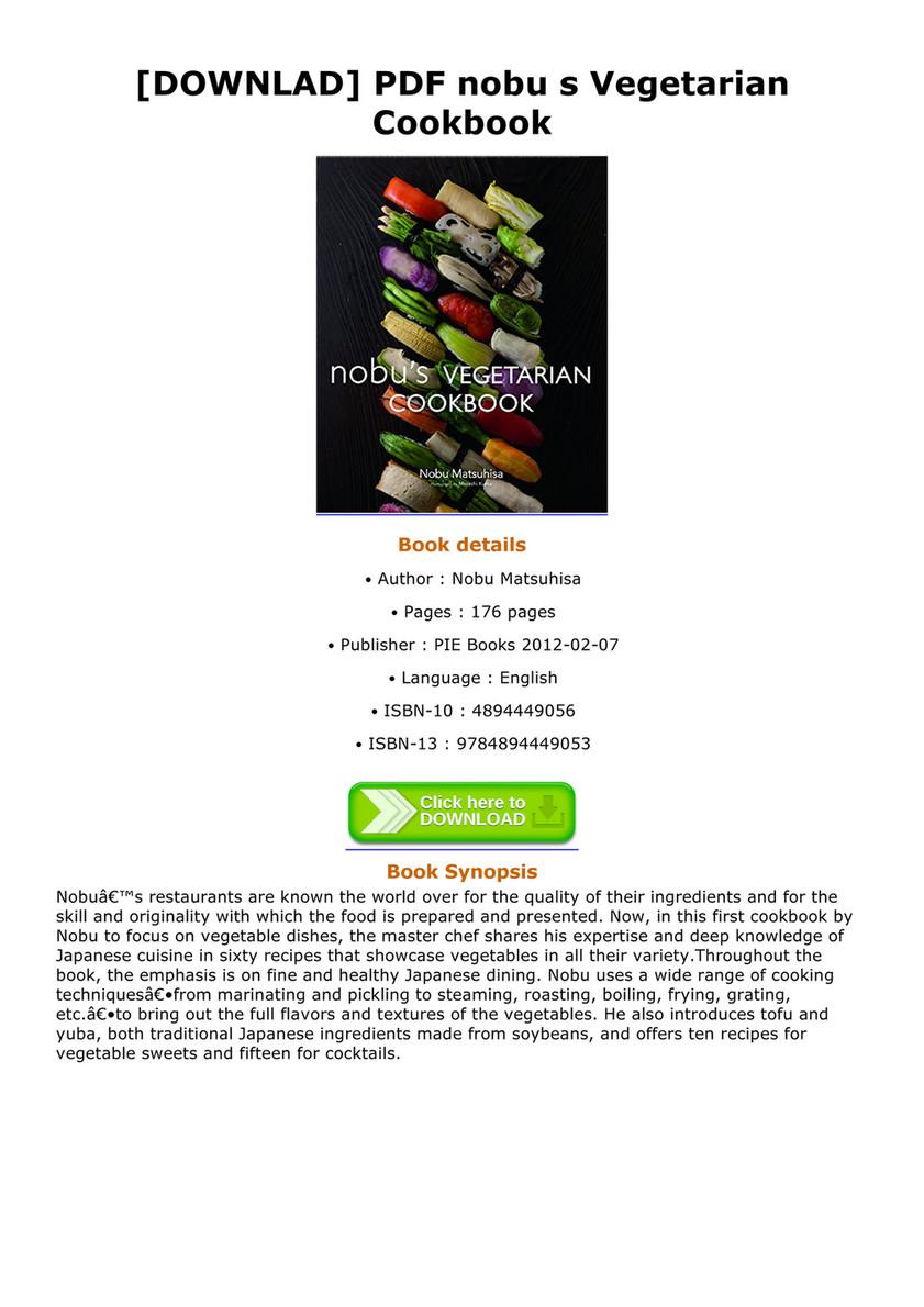 Burl downlad pdf nobu s vegetarian cookbook page 1 created downlad pdf nobu s vegetarian cookbook nobu s vegetarian cookbook nobus forumfinder Choice Image