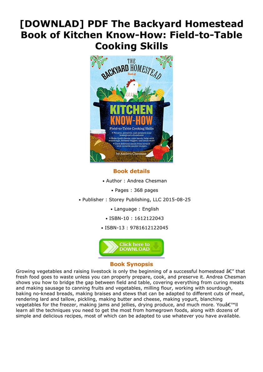 blumenthal downlad pdf the backyard homestead book of kitchen know rh view publitas com