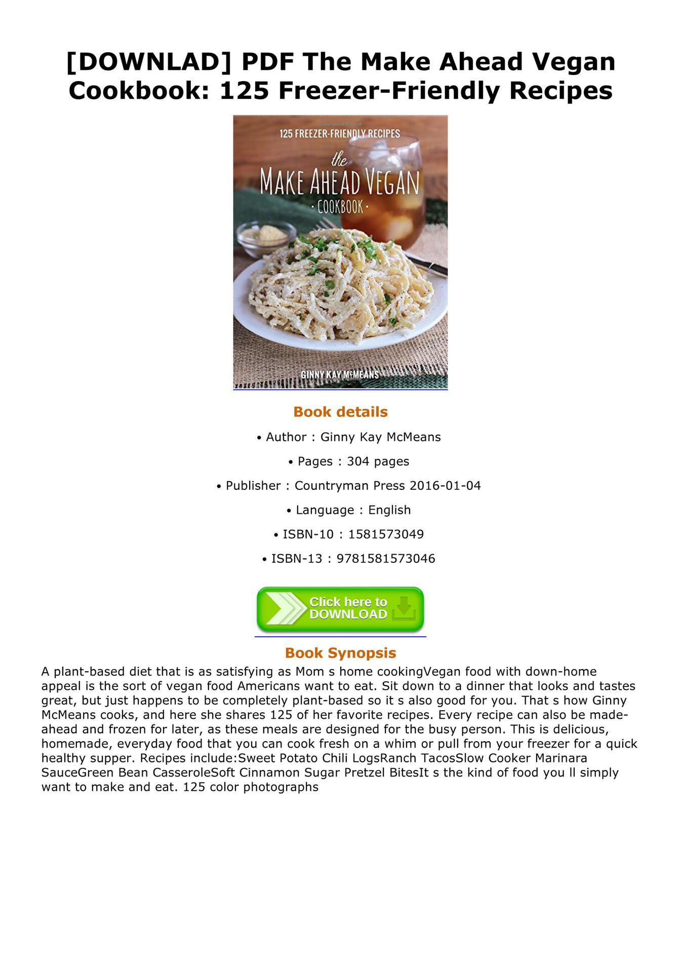 The Everything Vegan Cookbook Pdf