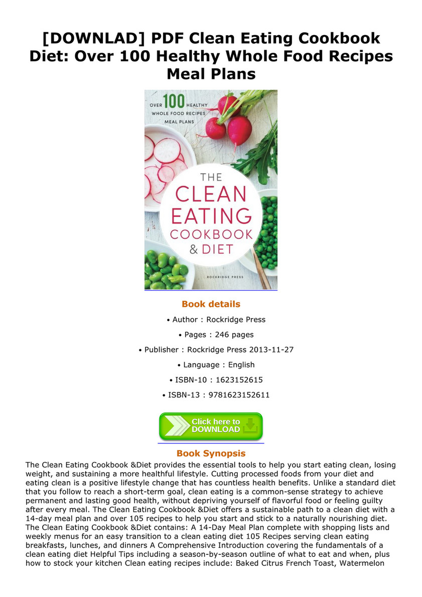 Farrer downlad pdf clean eating cookbook diet over 100 healthy downlad pdf clean eating cookbook diet over 100 healthy whole food recipes meal forumfinder Images