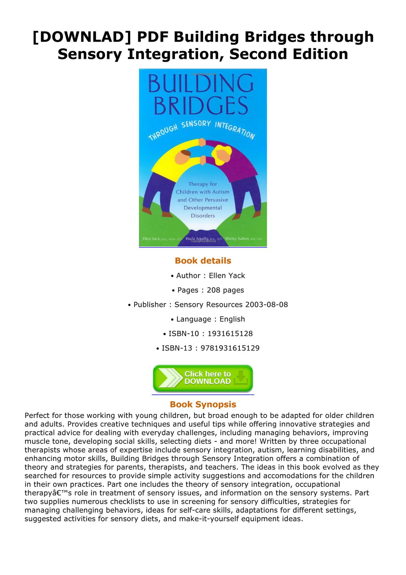 Riche - DOWNLAD PDF Building Bridges through Sensory