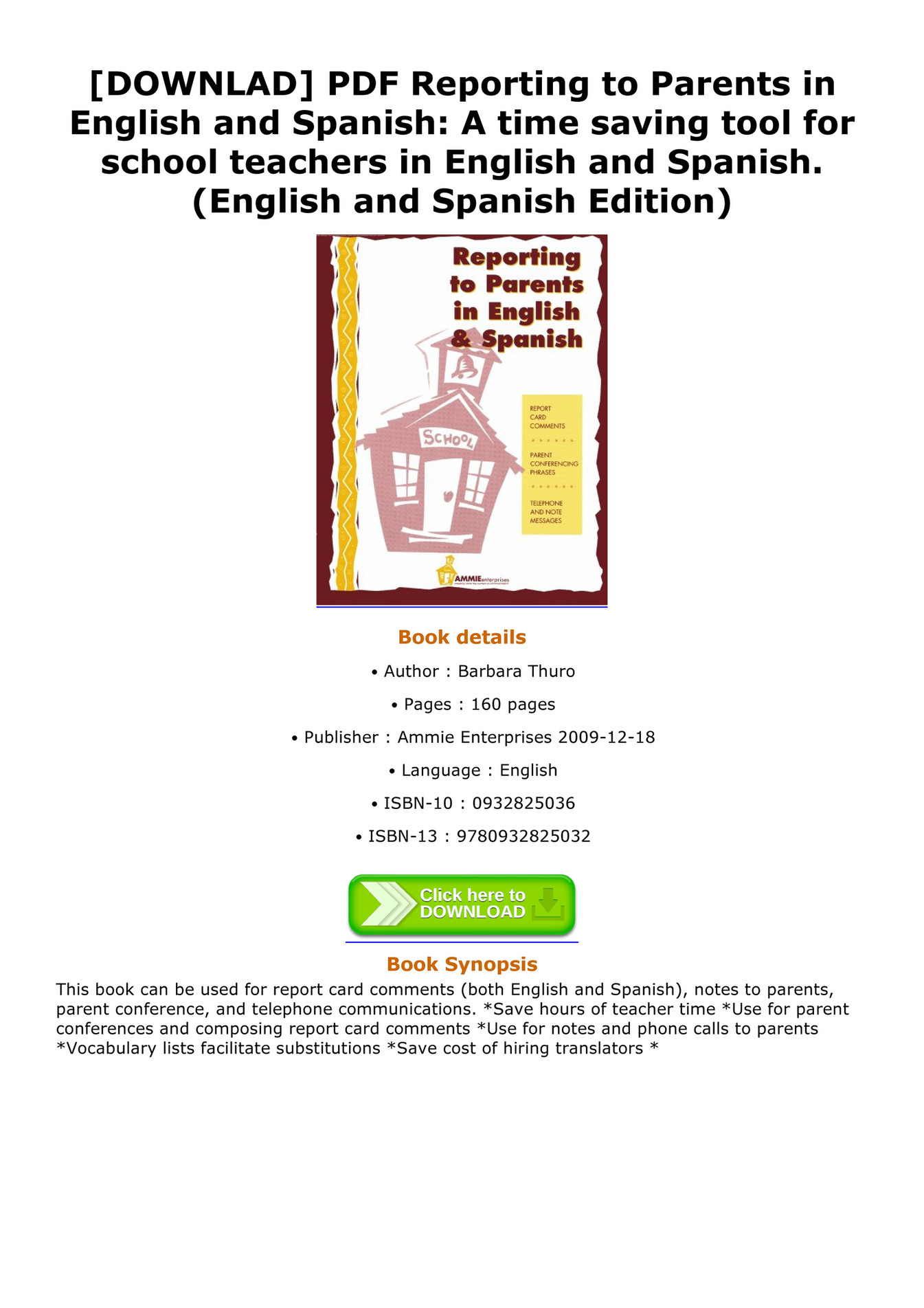 Claussen - DOWNLAD PDF Reporting to Parents in English and