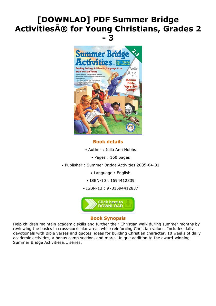 Clayton Downlad Pdf Summer Bridge Activities For Young