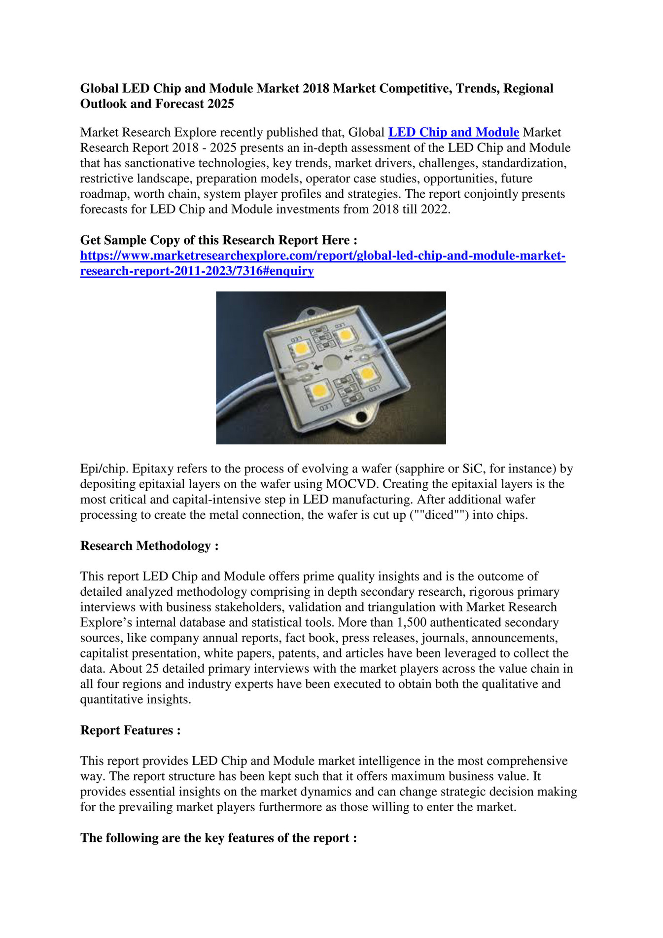 Market Research Explore - Global LED Chip and Module Market