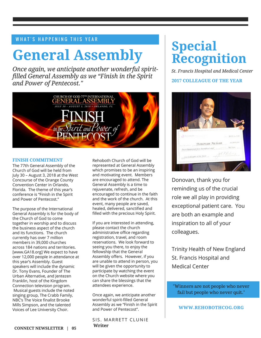 The River Church of God - Connect Newsletter Summer Edition - Page 6