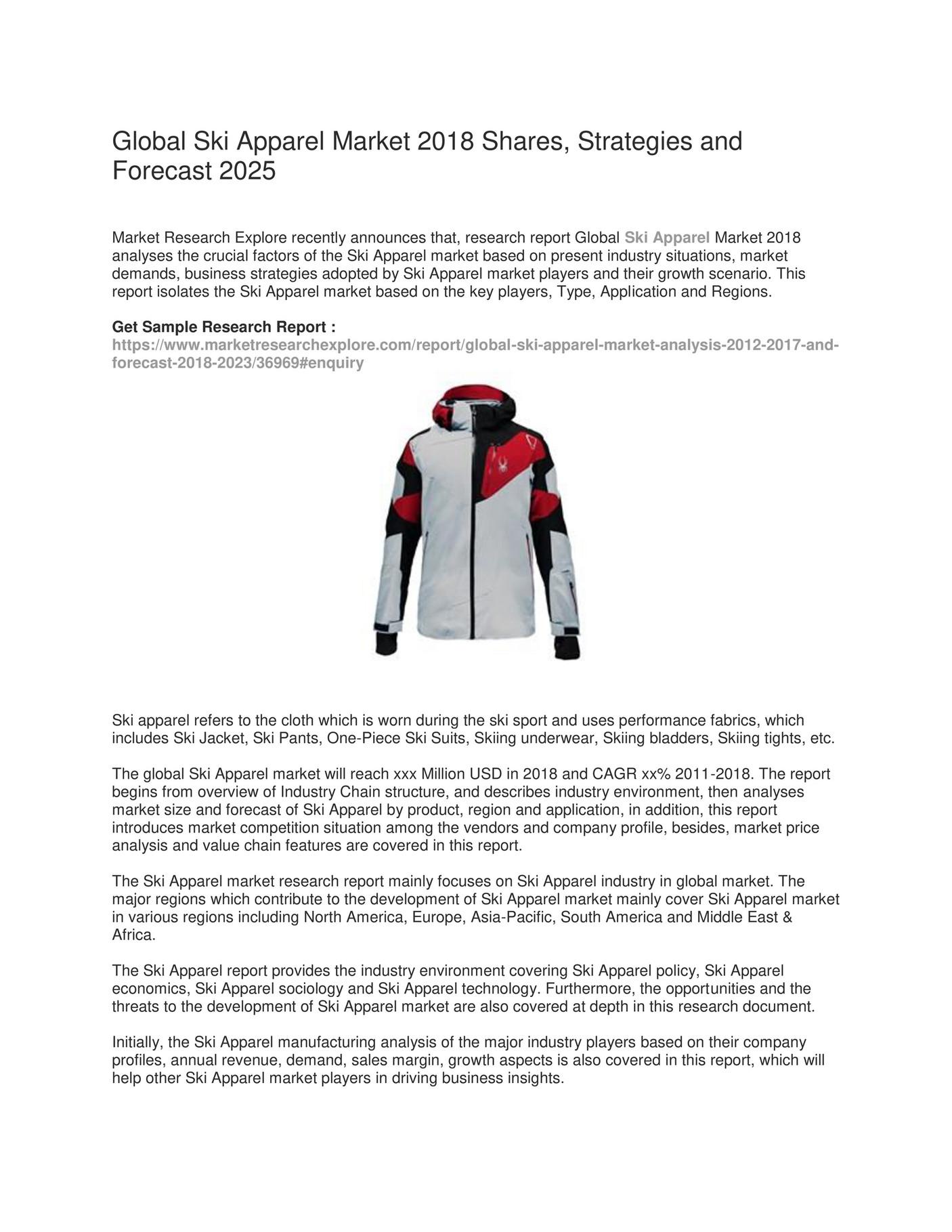 My publications - Global Ski Apparel Market - Page 1