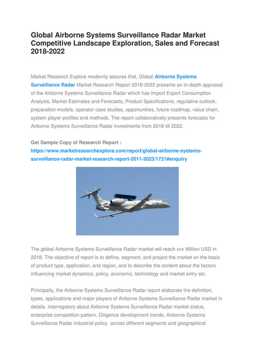 Market Research Explore - Global Airborne Systems