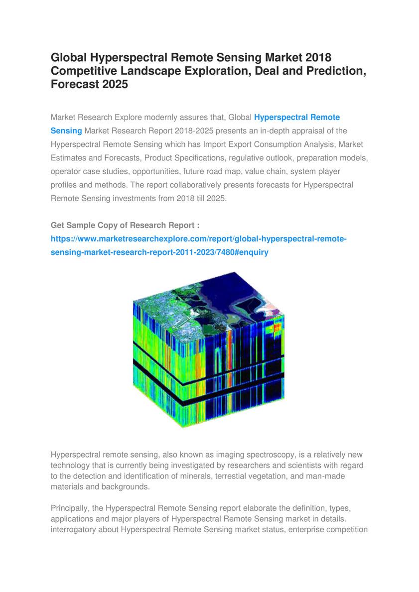 Market Research Explore - Global Hyperspectral Remote Sensing Market