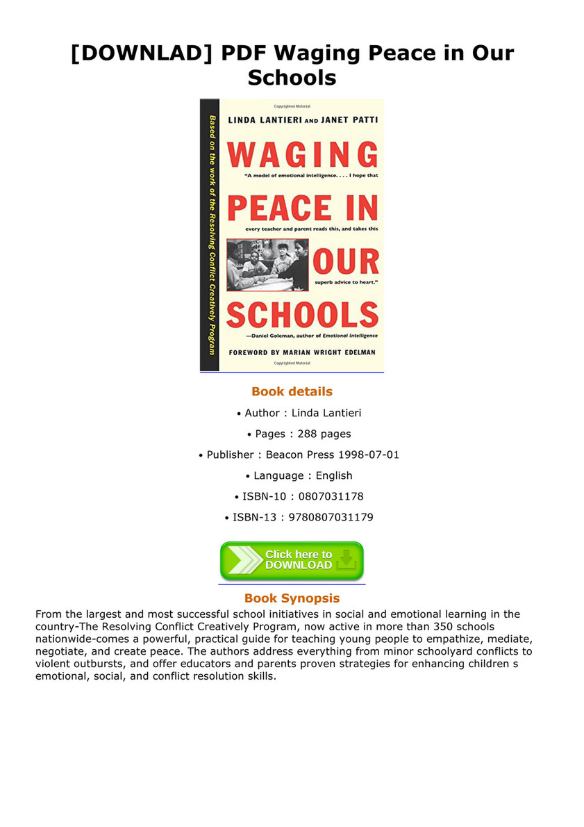 Taylor - DOWNLAD PDF Waging Peace in Our Schools - Page 1 - Created