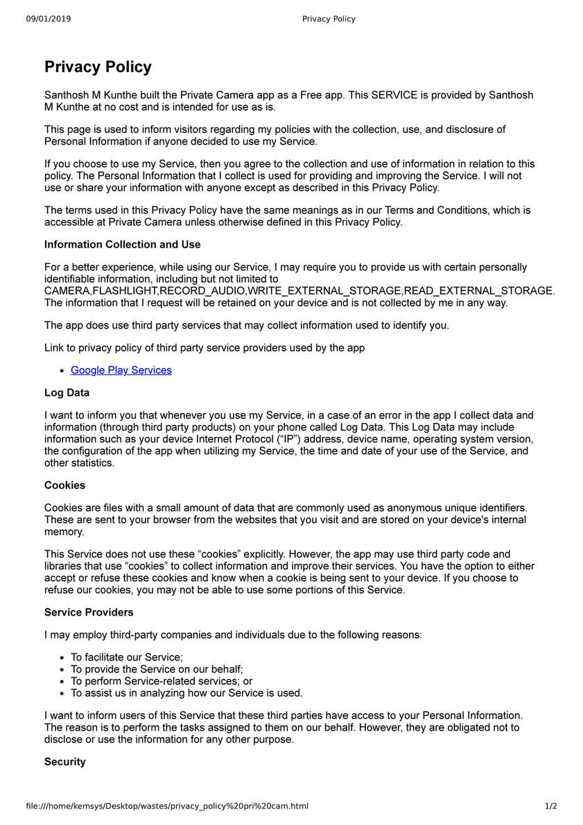 Me - Privacy Policy pri cam - Page 2 - Created with Publitas com