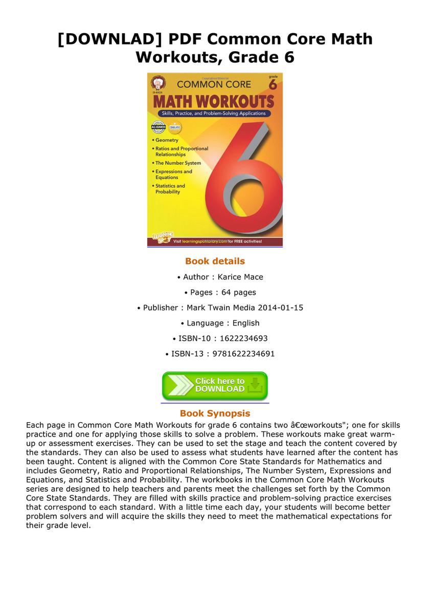 Jake - DOWNLAD PDF Common Core Math Workouts Grade 6 - Page