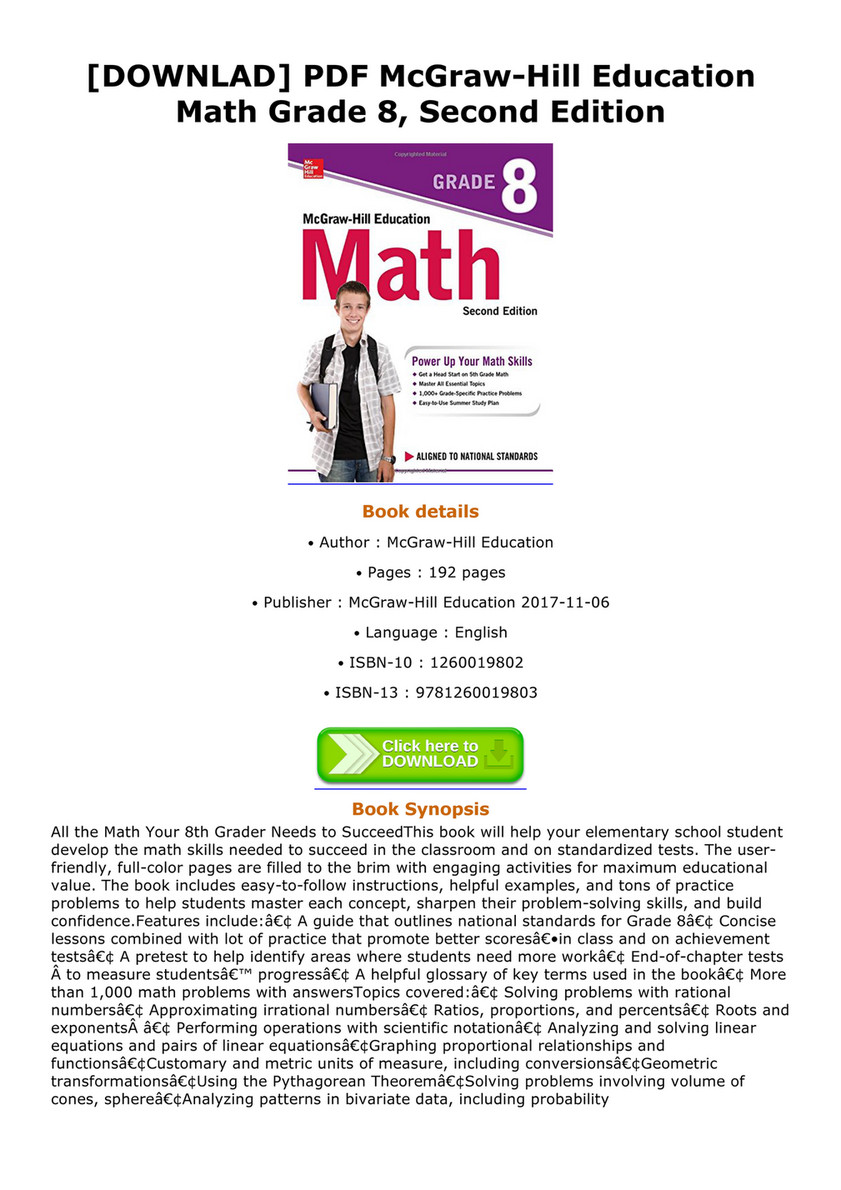 Cavalieri - DOWNLAD PDF McGraw Hill Education Math Grade 8