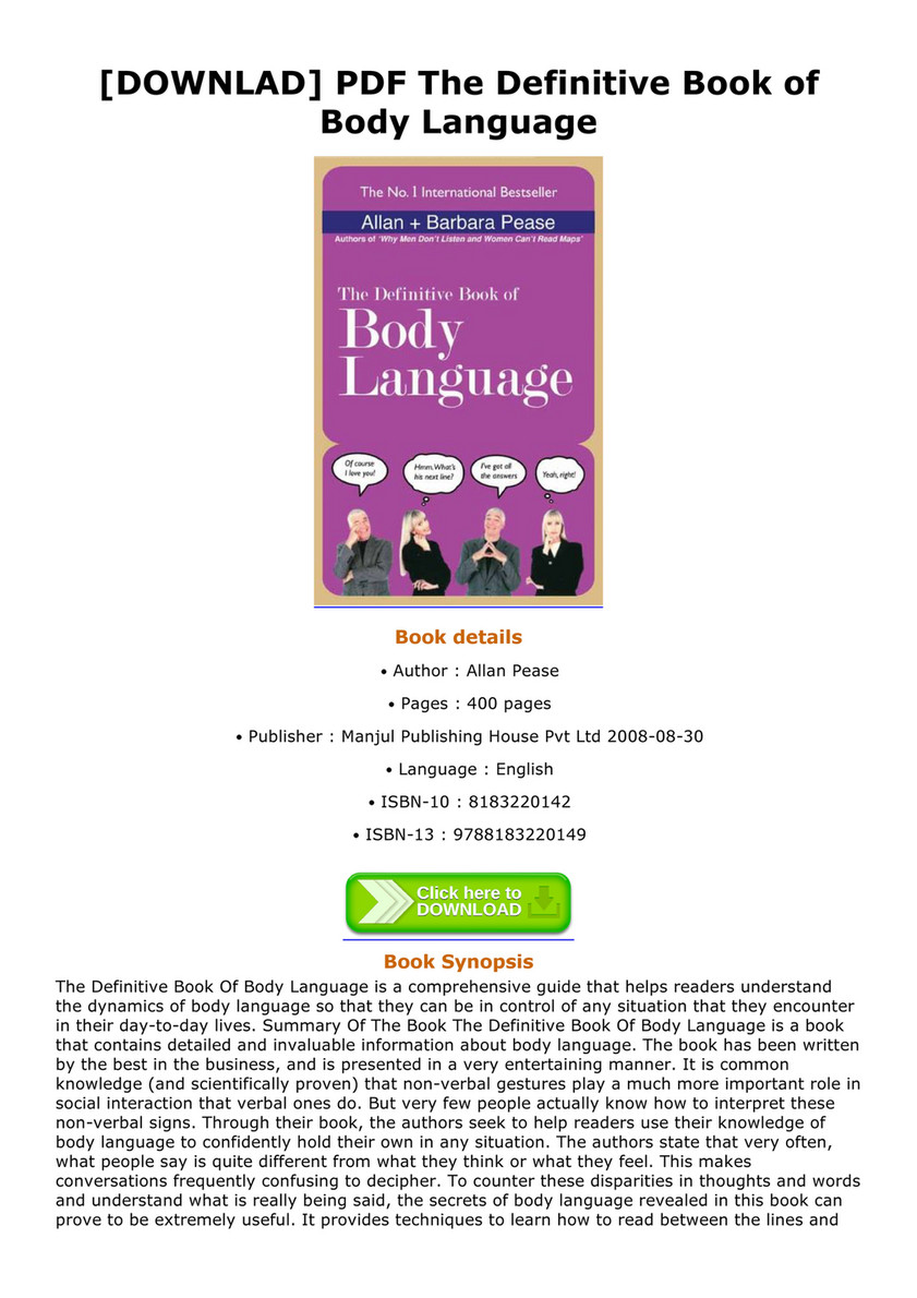 book the of pdf definitive body language