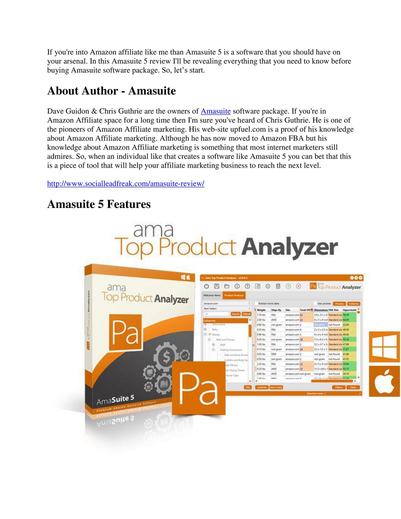 ama top product analyzer