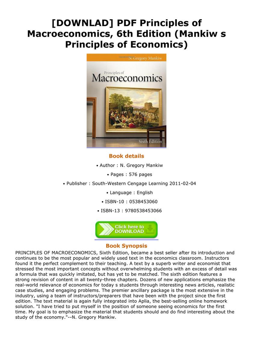 Weyant - DOWNLAD PDF Principles of Macroeconomics 6th