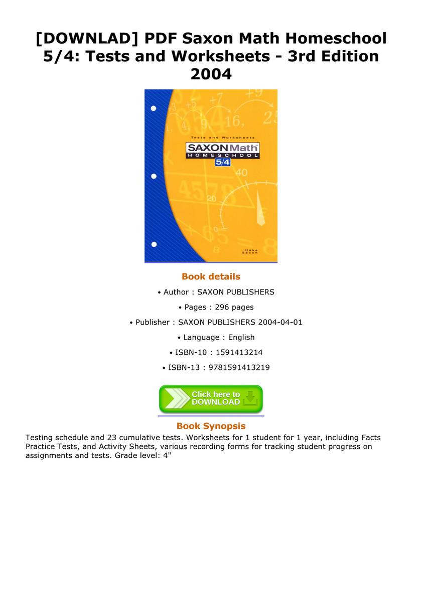 saxon math 5 4 pdf - Bare.bearsbackyard.co
