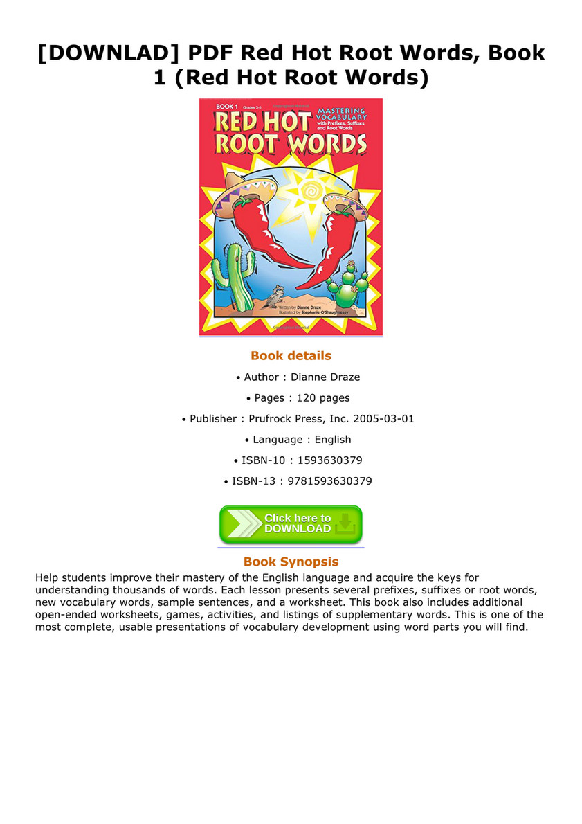 English Root Words Book