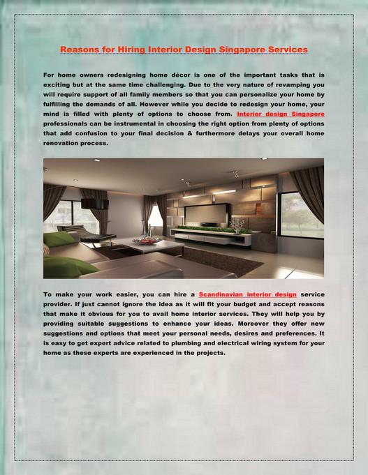 Sghomeneeds Reasons For Hiring Interior Design Singapore Services