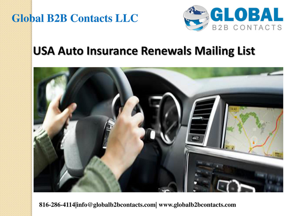 Usa Auto Insurance >> Globalb2bcontacts Llc Usa Auto Insurance Renewals Mailing
