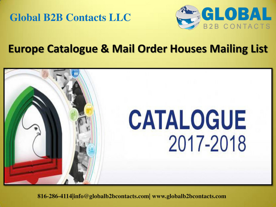 Globalb2bcontacts LLC - Europe Catalogue & Mail Order Houses