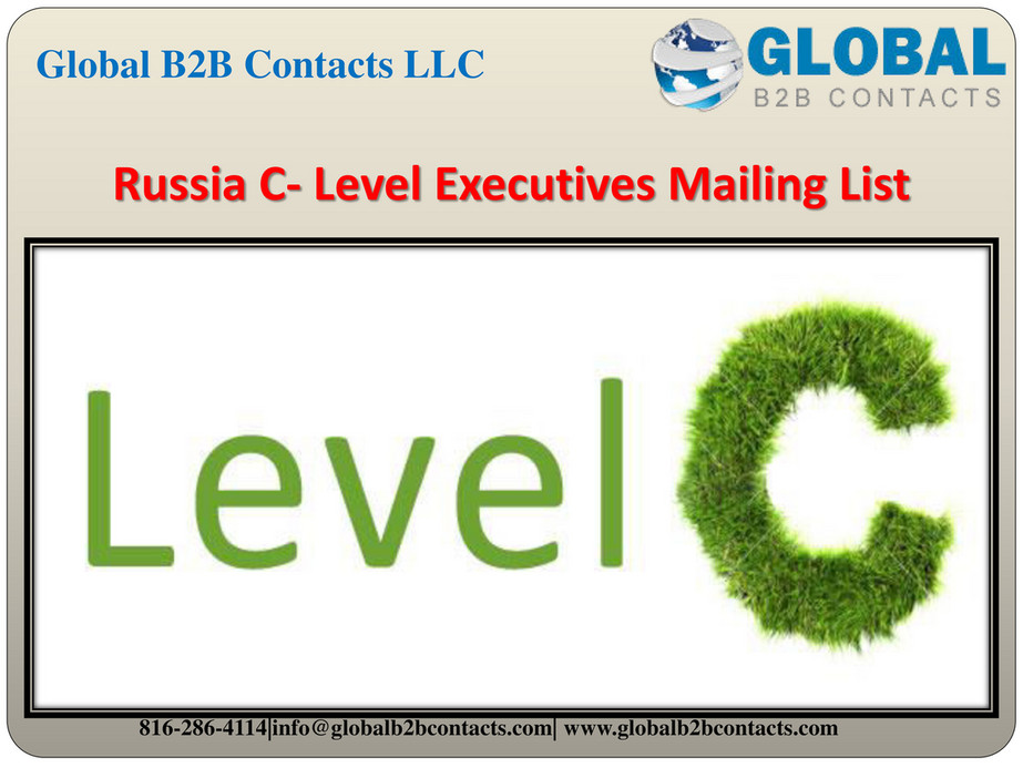 Globalb2bcontacts LLC - Russia C- Level Executives Mailing
