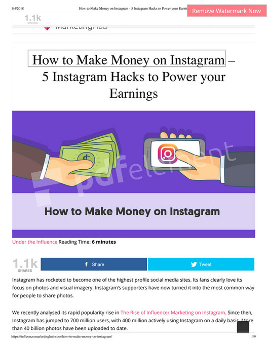 My publications - How to Make Money on Instagram - 5 Instagram Hacks