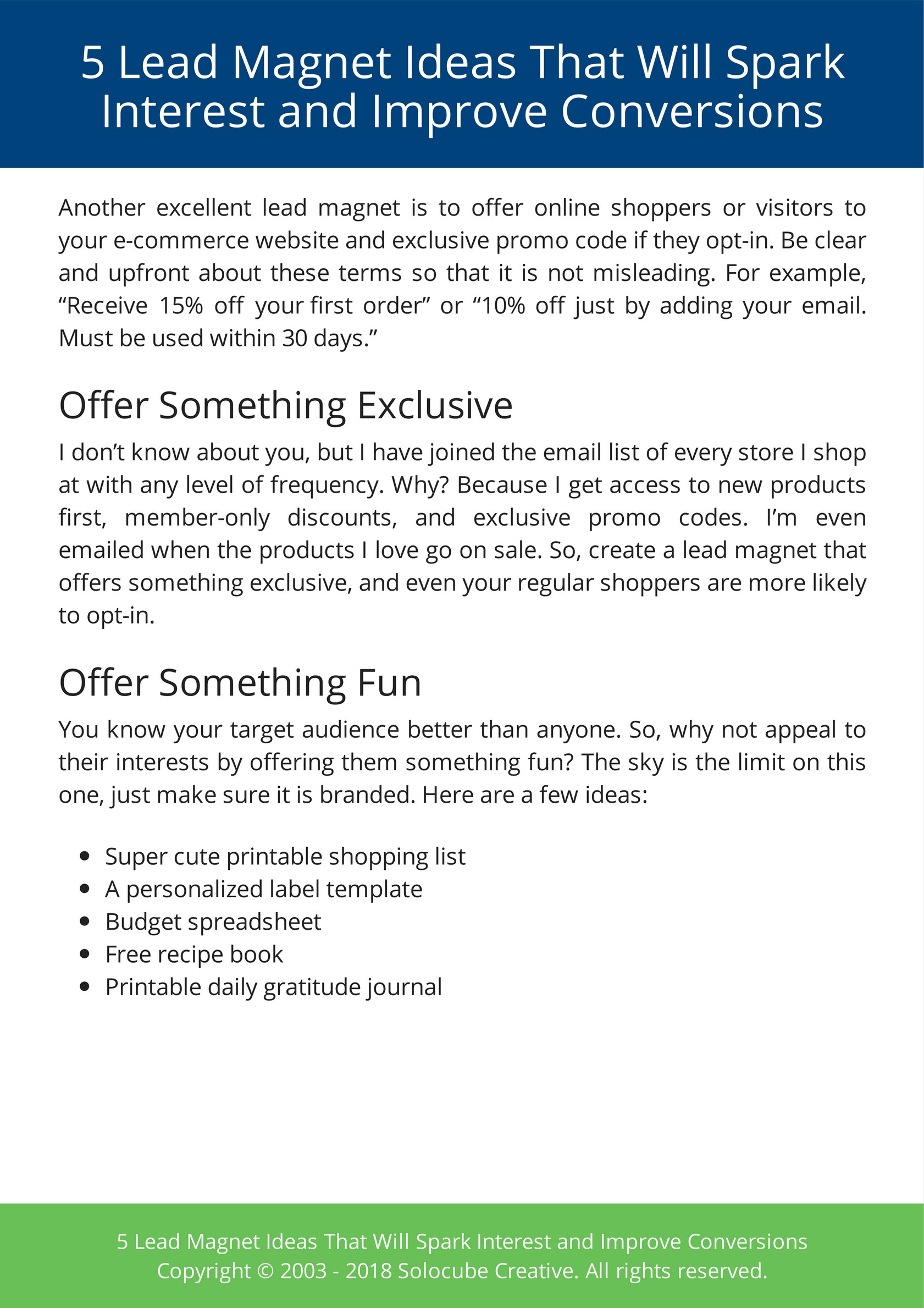 My Publications 5 Lead Magnet Ideas That Will Spark Interest And Improve Conversions Page 6 Created With Publitas Com