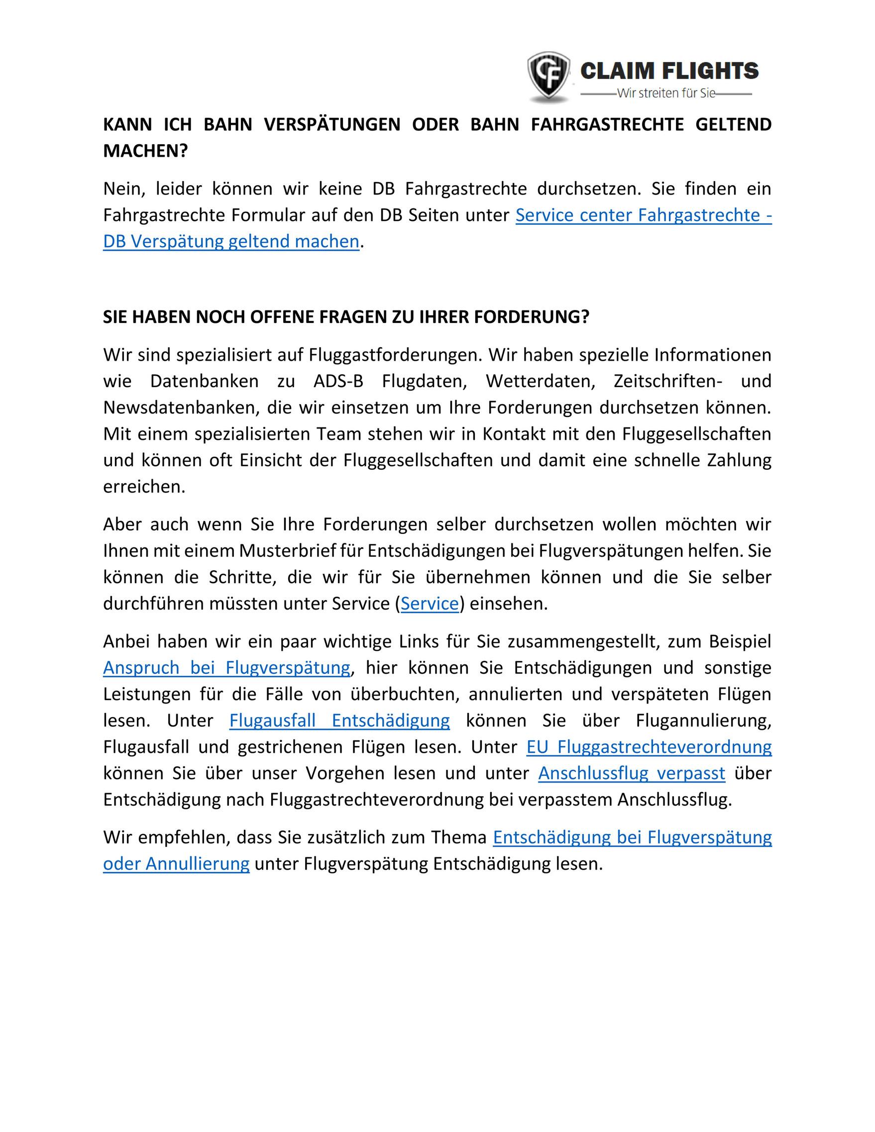 Eurowings Entschadigung Flugverspatung Flugausfall 9