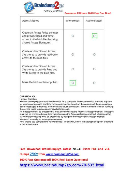 My publications - [Free-Version]2018 New Braindump2go 70-535 VCE