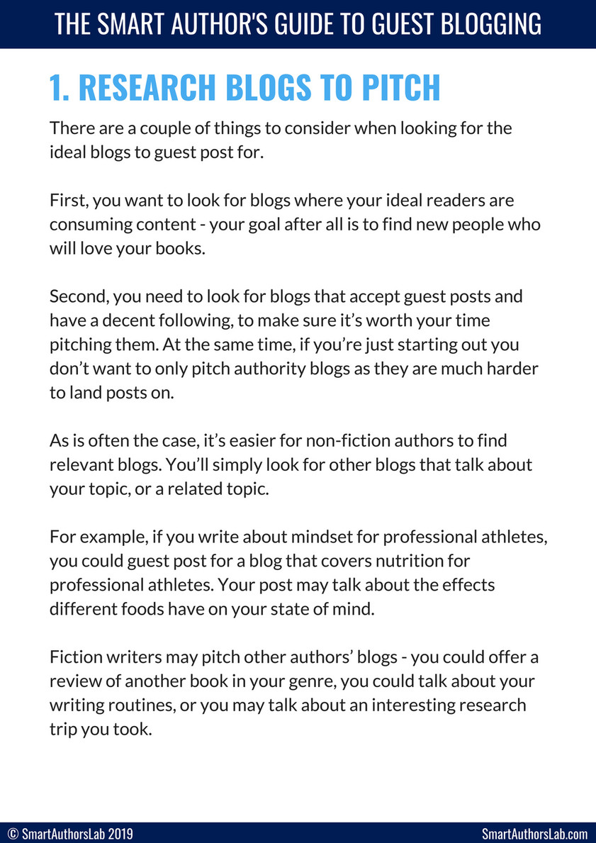 SmartAuthorsLab - The Smart Author's Guide to Guest Blogging