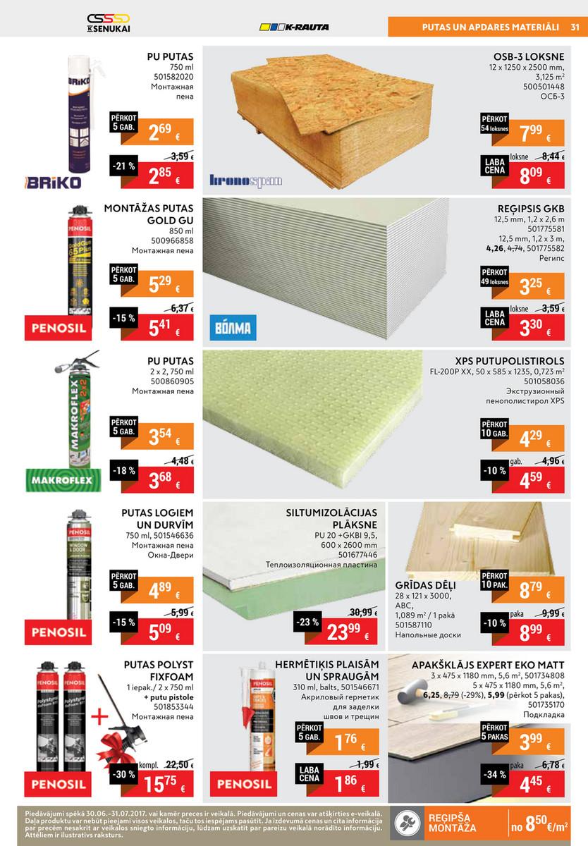 69 Putas senukai - july leaflet 2017 - page 30-31 - created with